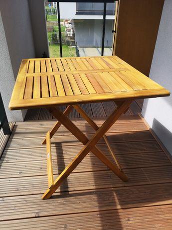 Stolik stół składany drewniany ogrodowy balkonowy