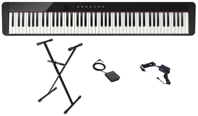 Pianino Casio Privia PX S1000 BK Zestaw Statyw