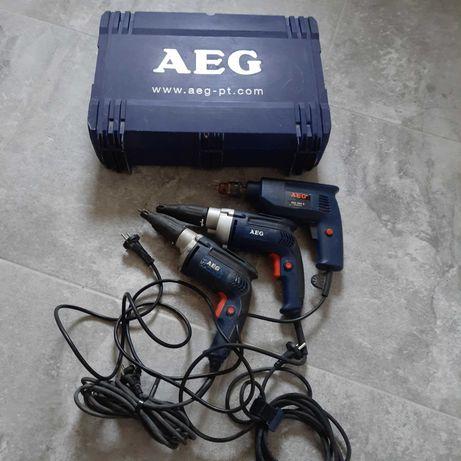 AEG wiertarka i dwie wkrętarki