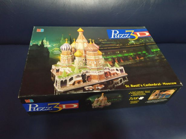 MB Puzz3D Puzzle 3D 708 Pecas St. Basils Cathedral Moscovo