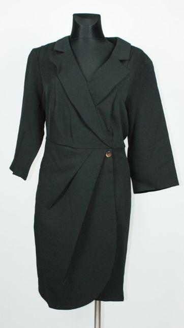 Żakietowa sukienka, elegancka mała czarna River Island 4XL