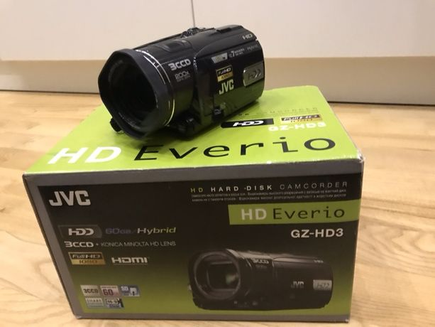 Kamera JVC GZ-HD3E - Full HD 60 GB