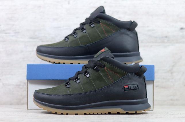 Мужские зимние ботинки Fila,Nike из натуральной кожи в разных цветах