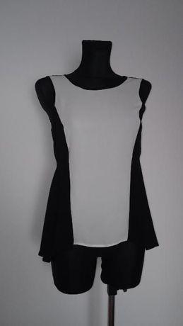 Śliczna- Biało-Czarna Bluzeczka-Mohito