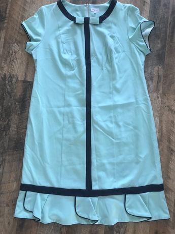 Sukienka miętowa r.48