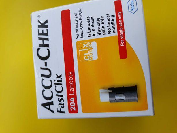 Bębenki FastClix Accu check 204szt