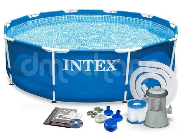 Каркасный круглый 305-76 бассейн басейн METAL FRAME POOL Intex
