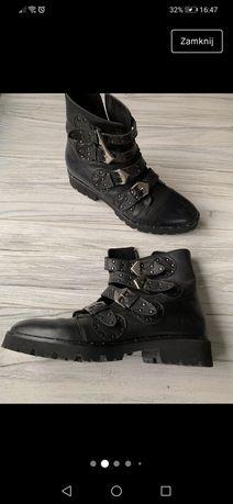Skórzane buty workery 39 Badura