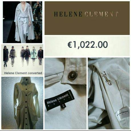 Helene Clement дизайнерский швейцарский плащ в стиле Annette Gordz