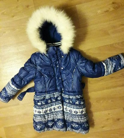 Зимний плащ на девочку 5-7 лет Donilo