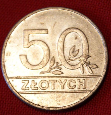Moneta 50 zł złotych 1990 r