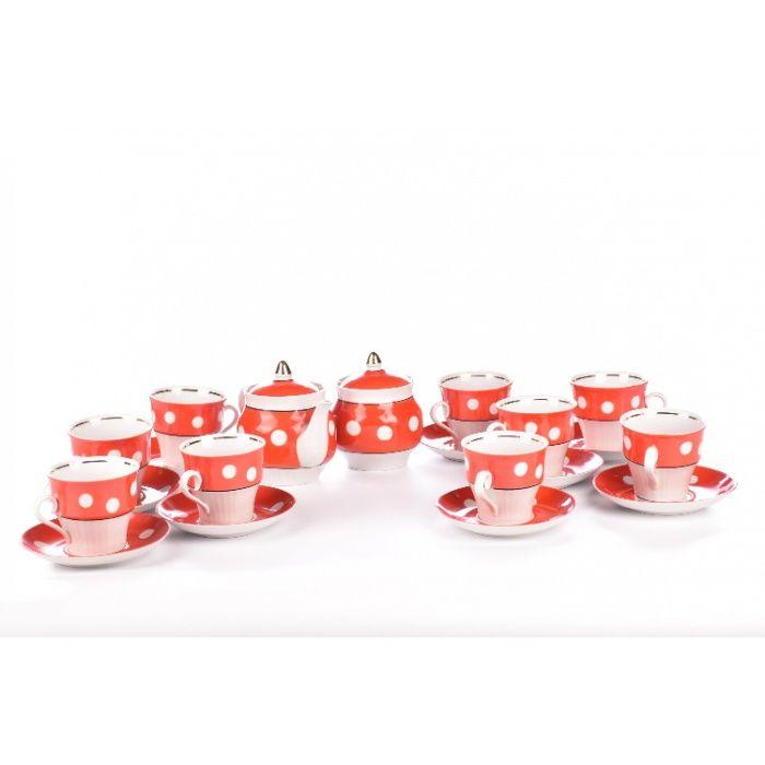 Большой винтажный чайных набор, ретро сервиз, посуда ссср, декор дома Киев - изображение 1