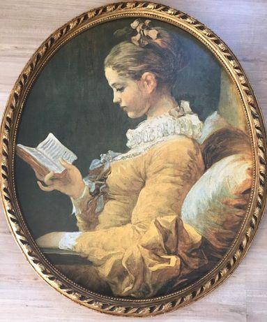 Obraz w pieknej starej ramie reprodukcja