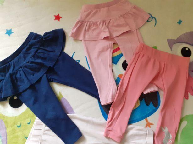 Zestaw, spodnie dresowe, leginsy r80-86
