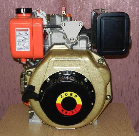 Двигатель Дизельный на Мотоблок Зубр (ZUBR) 178F на Шлицах Ручной стар