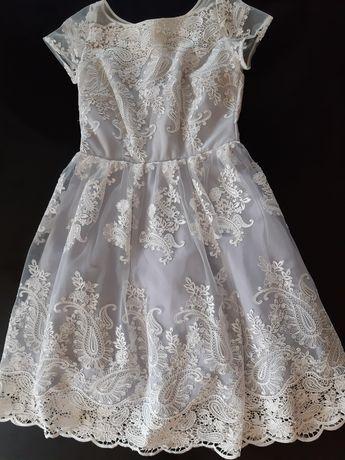 Sukienka elegancka koronka rozm 38