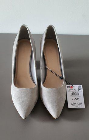 Szare buty zamszowe Reserved r. 37 NOWE