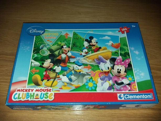 Puzzle Mickey Mouse camping buddies