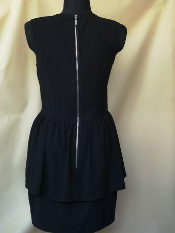 H&M Nowa czarna sukienka damska z falbaną r 38/M