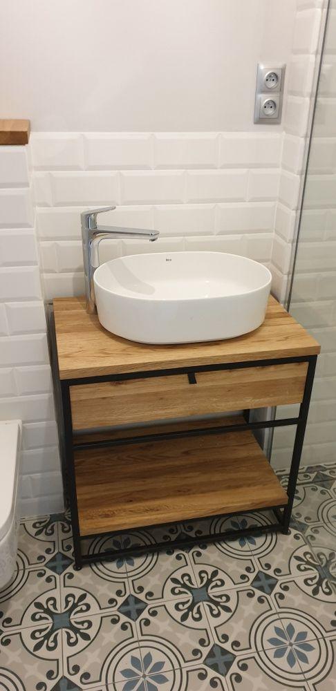 Konsola pod umywalkę loft . Lity dąb. Szuflada cichy domyk. Wierzchowisko - image 1