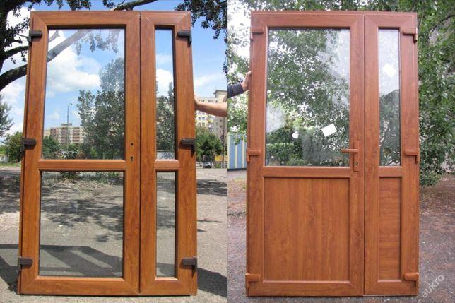 Drzwi PCV Złoty Dąb 125 X 210 sklepowe KALISZ