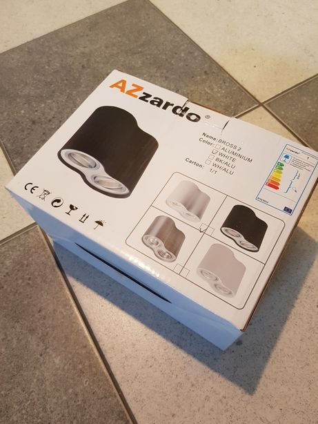 Lampa Azzardo Bross 2 nowa biała Led GU10 platfon kinkiet sufitowy