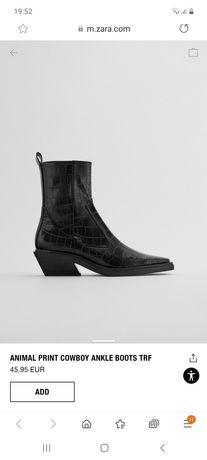 Ботинки демисезонные ZARA ковбойки
