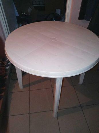 Stół ogrodowy biały