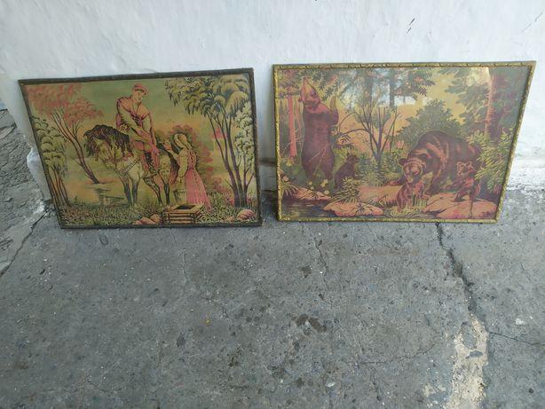 Картина СССР мишки в лесу 100 за 2
