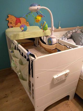 Łóżeczko dzieciece drewniane- zestaw