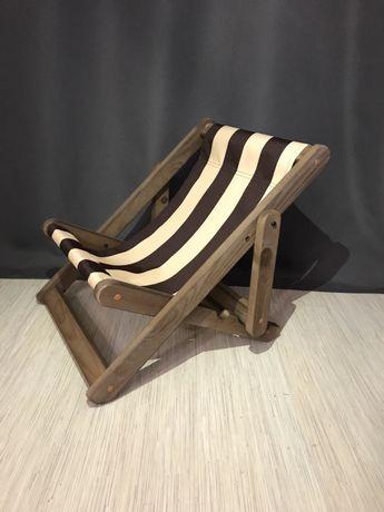 Шезлонг стул раскладной детский деревянный.