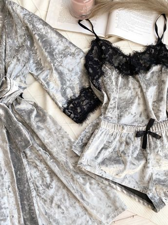 Комплект велюровий одяг для сну