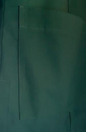 Tkanina elanobawełna kolor zieleń butelkowa.