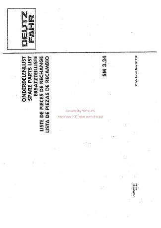 Katalog części kosiarka Deutz fahr SM 3.24
