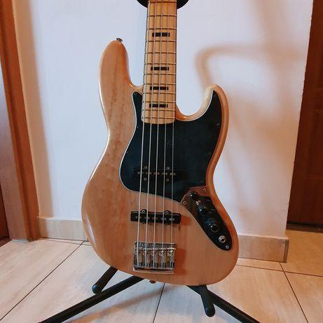 Gitara basowa jazz bass squier V 5 bas