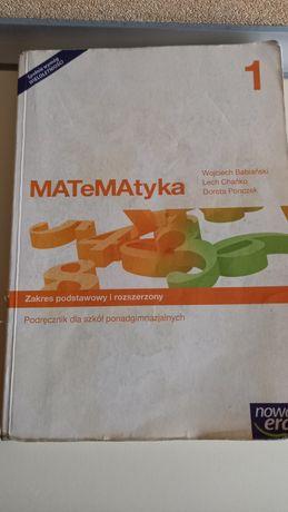 Matematyka 1 nowa era zakres podstawowy i rozszerzony po gimnazjum