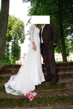 Hiszpańska Koronkowa Suknia ślubna St.Patrick 38-40 idealna, piękna