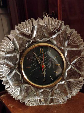 Часы хрустальные, кварц, СССР
