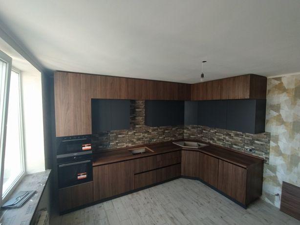 Кухня Киев •Угловая Кухня в потолок • Кухня BLUM • Рассрочка под 0% !