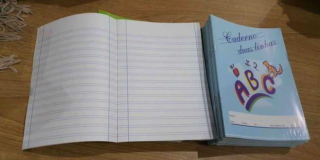 2 Cadernos de 2 linhas