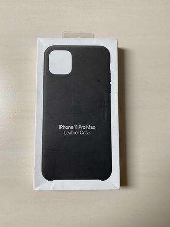 Etui Apple Leather Case do iPhone 11 Pro Max Czarne