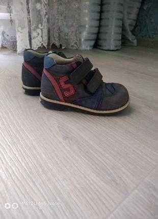 Ботинки на мальчика, ортопедические демисезонные ботинки на мальчика