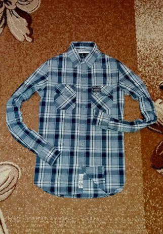 Рубашка в клетку Superdry, размер ХS-S