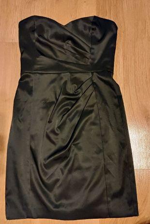 Sukienka mała czarna satynowa Mango 36/S
