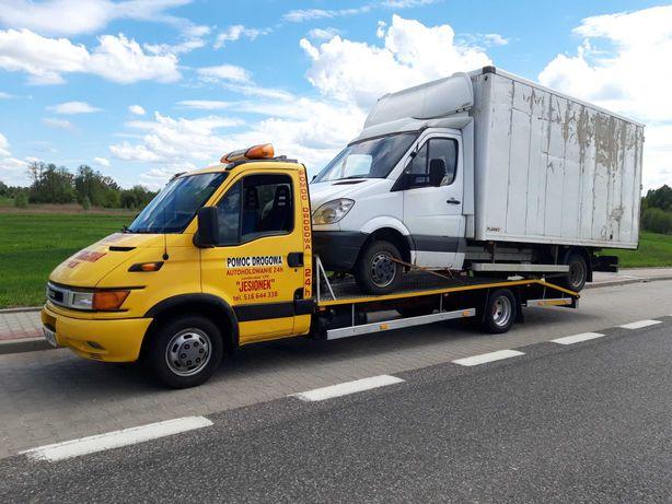 Pomoc drogowa transport laweta awaria wypadek 24 H holowanie ciągniki