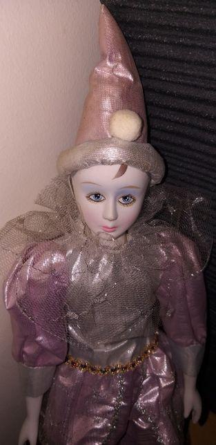 Boneca de Porcelana - Arlequim. Novo, na Caixa.