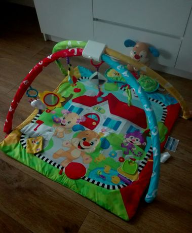 Mata edukacyjna dla niemowlaka Fisher-Price szczeniaczek