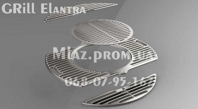 Решетка гриль 700 мм чугунная для барбекю и мангала BBQ GRILL Elantra