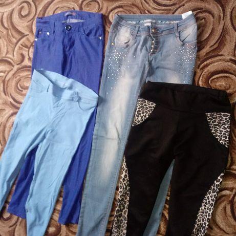 Rurki dżinsy legginsy 4 pary S 36