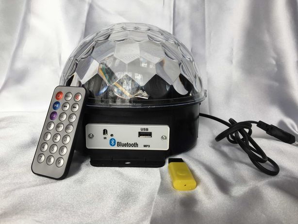 Диско шар с музыкой LED Crystal Magic Ball Light Bluetooth